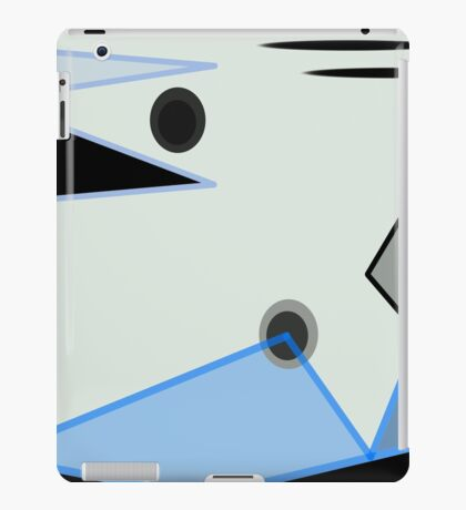 Abstract Design in Blue, Black, and White iPad Case/Skin