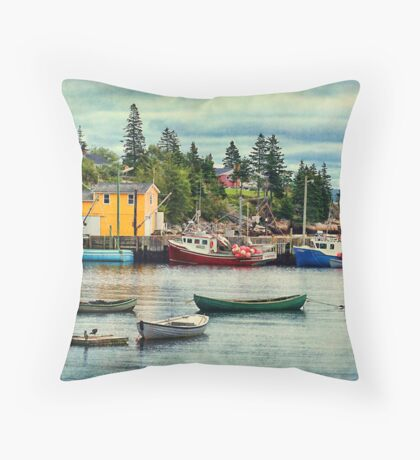 Northwest Cove, Nova Scotia Throw Pillow