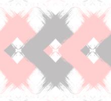 Geometric modern pink coral gray brushstrokes Sticker
