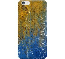 Abstract in Gold, Blue, and White iPhone Case/Skin