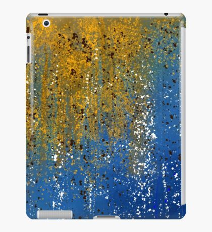 Abstract in Gold, Blue, and White iPad Case/Skin
