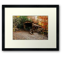 Lantermans Mill Bridge In Fall Framed Print