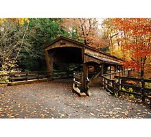Lantermans Mill Bridge In Fall Photographic Print