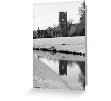 Fountains Abbey, North Yorkshire Greeting Card