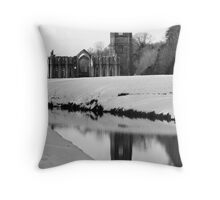 Fountains Abbey, North Yorkshire Throw Pillow