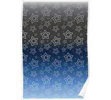 Ornated Silver Stars Poster
