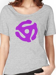 Purple 45 Vinyl Record Symbol Women's Relaxed Fit T-Shirt