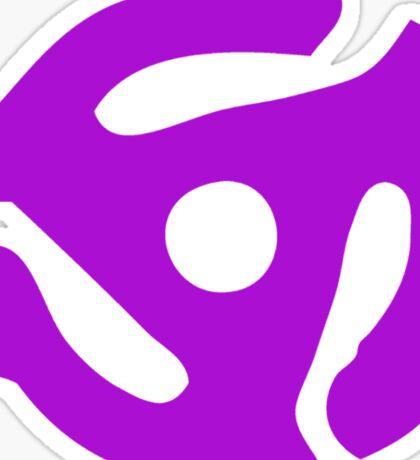 Purple 45 Vinyl Record Symbol Sticker