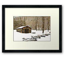Snow On The Blacksmith Shop Framed Print