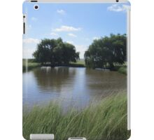 Trees at small dam iPad Case/Skin