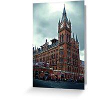 london st. pancras station Greeting Card
