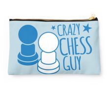 Crazy Chess guy with pawns Studio Pouch