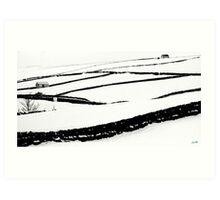 Snowscene in Teesdale Art Print