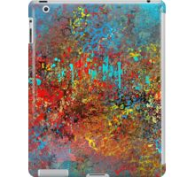 Colorful Absract in Aqua, Red, Yellow, and Blue iPad Case/Skin