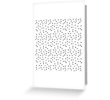 Modern abstract black white paint polka dots  Greeting Card