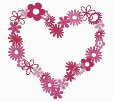 Pink Flower Heart  by Sanguine