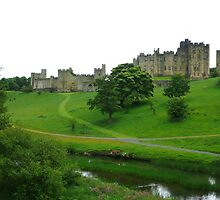 Alnwick castle in Northumberland. by Onions