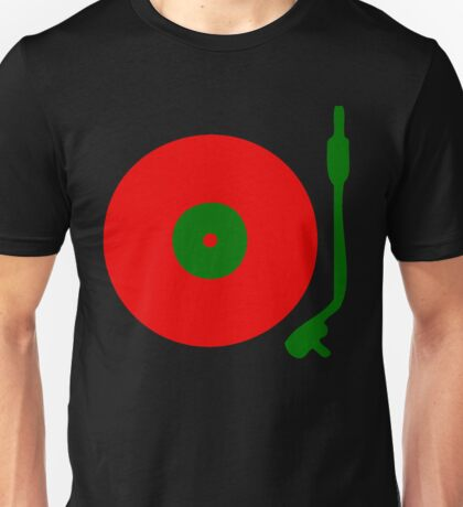 Red Green DJ Vinyl Record Turntable Unisex T-Shirt