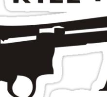Happy Gilmore – Guns Don't Kill People, I Kill People Sticker