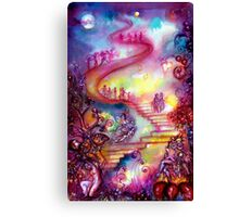 GARDEN OF THE LOST SHADOWS / MYSTIC STAIRS  Canvas Print