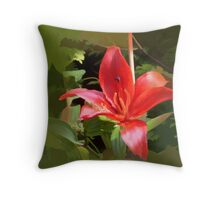 abstract of Orange Lily Throw Pillow