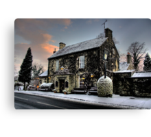 The Rock In The Snow Canvas Print