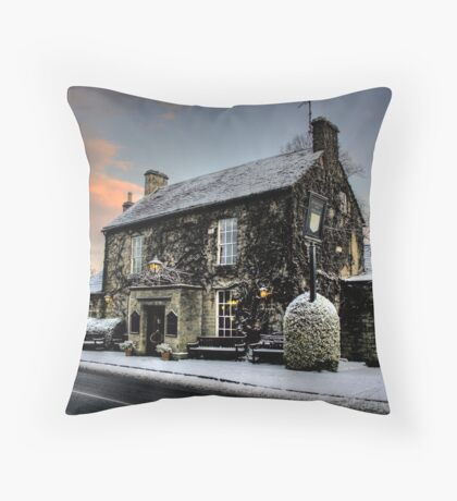 The Rock In The Snow Throw Pillow