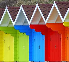 Beach Huts by jonAt