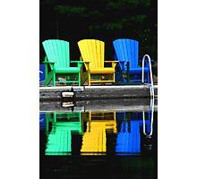 Muskoka Chairs Photographic Print