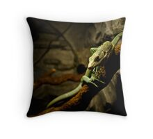 Varanus prasinus Throw Pillow