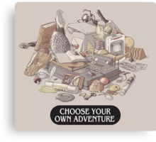Choose your own Adventure Canvas Print