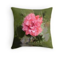 abstract of frilly poppy flooded Throw Pillow