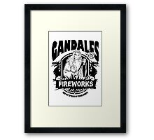 Gandalfs Fireworks - Keep Out Of Reach Of Young Hobbits Framed Print
