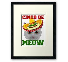 Cinco De Meow Framed Print