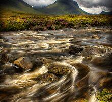 Marsco and swollen river at Sligachan, Isle of Skye. Scotland. by photosecosse /barbara jones