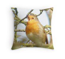 robin singing Throw Pillow