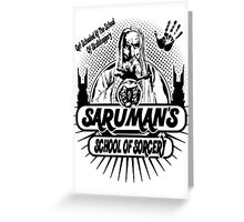 Sarumans School Of Sorcery Greeting Card
