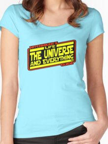 Hitchhiker's Guide Strikes Back Women's Fitted Scoop T-Shirt