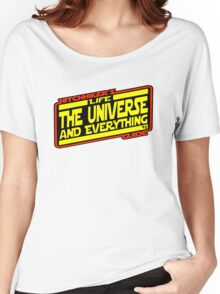 Hitchhiker's Guide Strikes Back Women's Relaxed Fit T-Shirt
