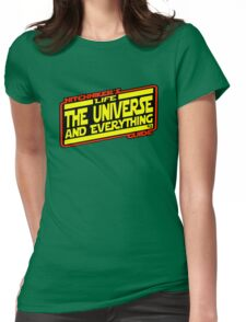 Hitchhiker's Guide Strikes Back Womens Fitted T-Shirt
