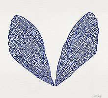 Navy Cicada Wings by Cat Coquillette