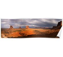Monument Valley panorama 2 Poster