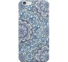 Indigo Medallion with Butterflies & Daisy Chains iPhone Case/Skin