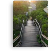Stairway in the Bush, Preston Beach, Western Australia Canvas Print