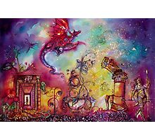 GARDEN OF THE LOST SHADOWS  / FLYING RED DRAGON Photographic Print