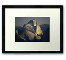 Half Dome At Sunset Framed Print