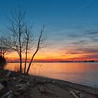 Sunset on the Deleware by David Lamb