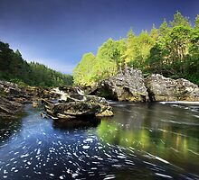 Blackwater Little Garve Ross-shire by colin campbell