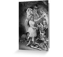 Fighters By the Cave. Greeting Card