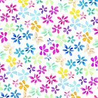 Spring watercolor hand painted bright flowers by GirlyTrend